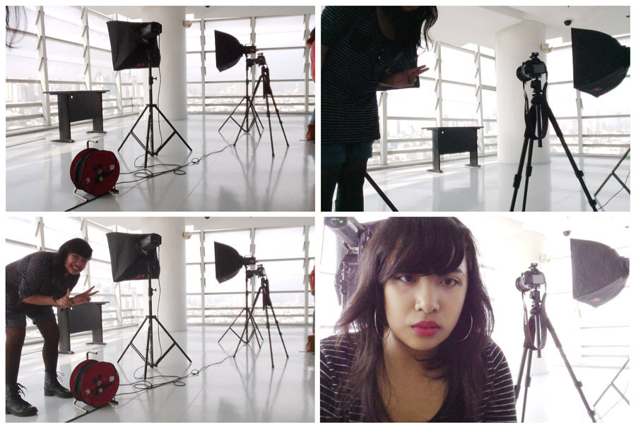 Photo shoot setup in the SDA building