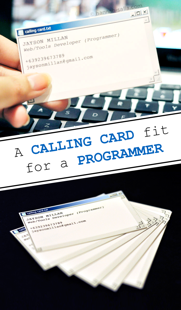 windows classic calling card