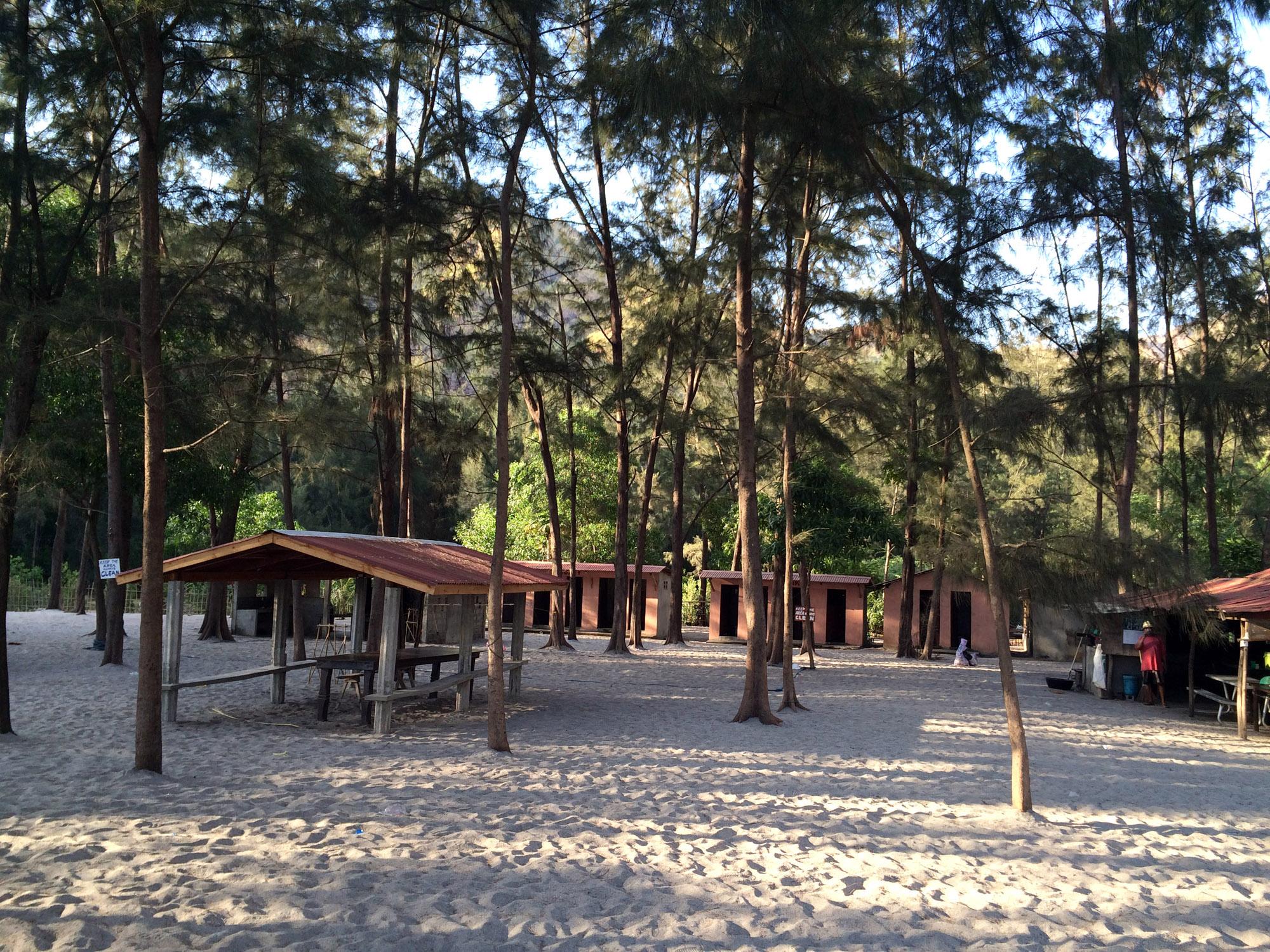 Talisayen Cove camping area, Zambales