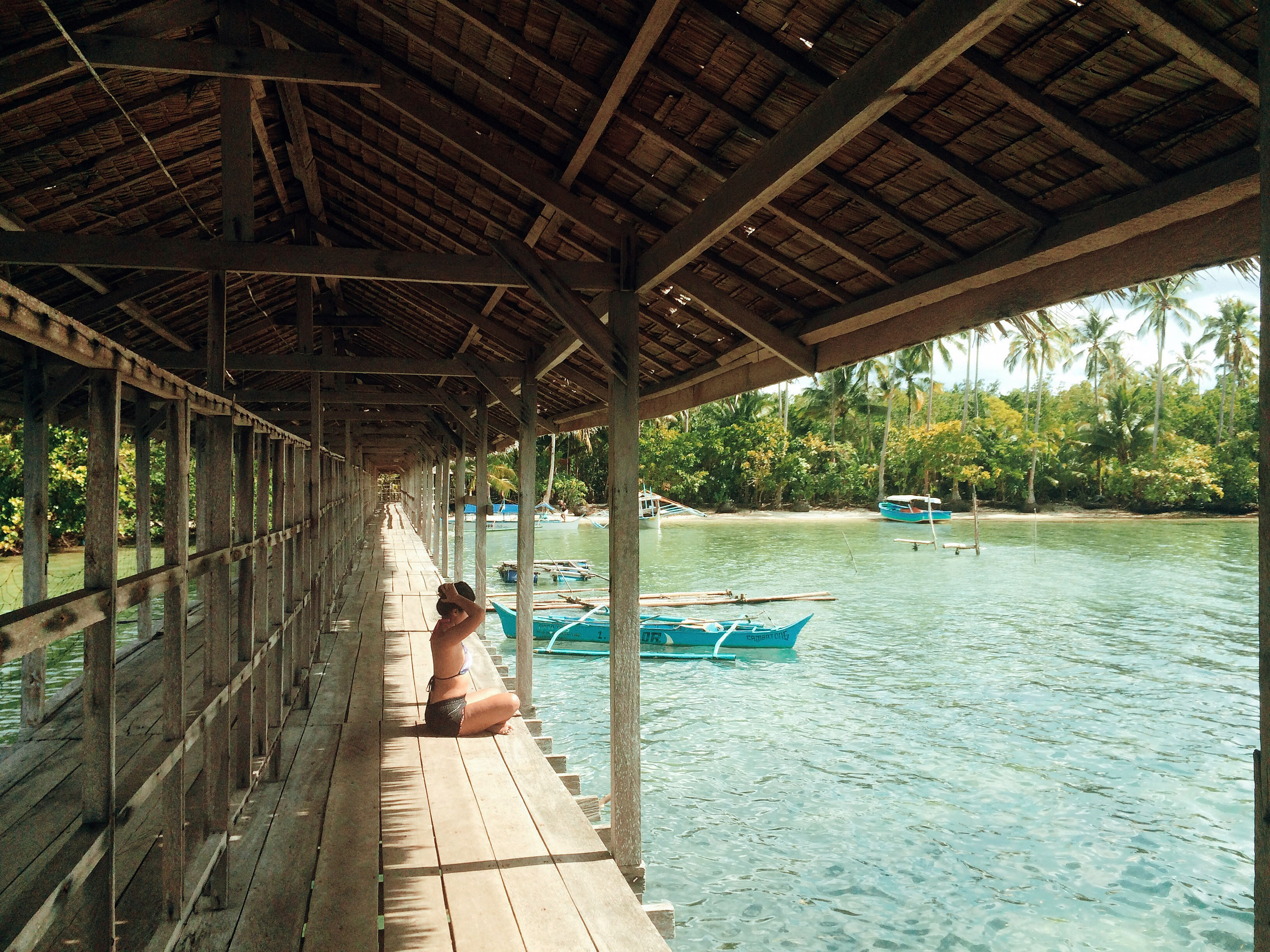 The dock at Pacific View Resort, Hinatuan, Surigao Del Sur, Philippines