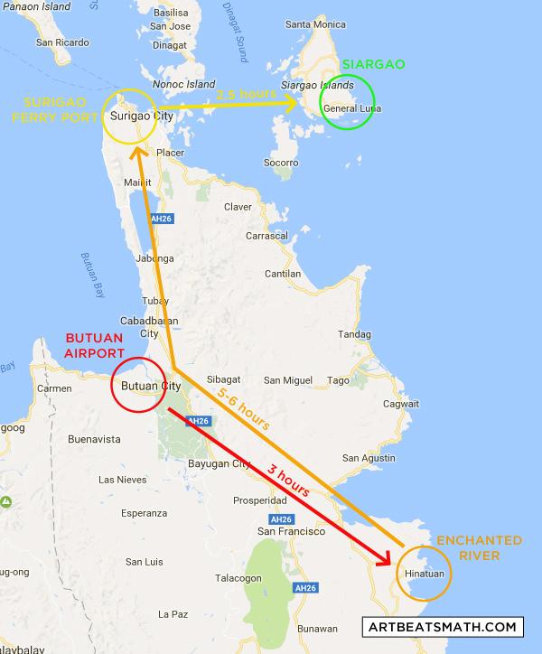 Surigao Siargao Itinerary